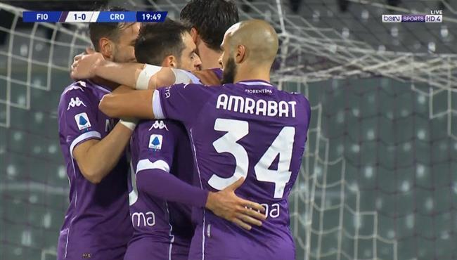 اهداف مباراة فيورنتينا وكروتوني (2-1) الدوري الايطالي