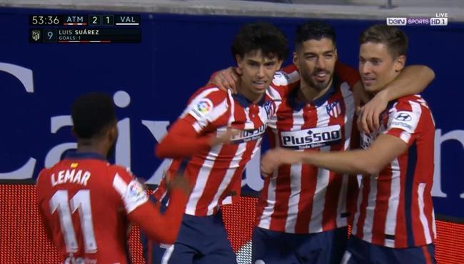 اهداف مباراة اتلتيكو مدريد وفالنسيا (3-1) الدوري الاسباني