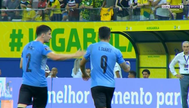 هدف سواريز الرائع في مرمي البرازيل بتصفيات كاس العالم