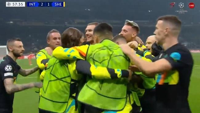 ملخص واهداف مباراة انتر ميلان وشيريف (3-1) دوري ابطال اوروبا