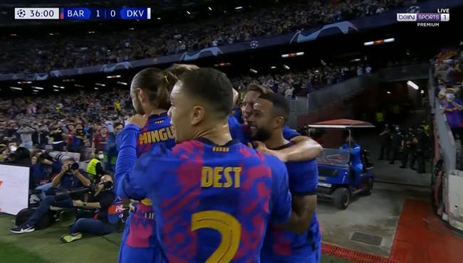 هدف فوز برشلونة علي دينامو كييف (1-0) دوري ابطال اوروبا