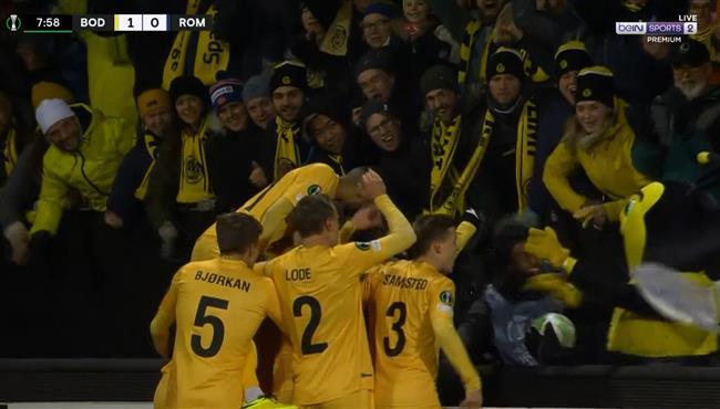 اهداف مباراة روما وبودو جليمت (1-6) دوري المؤتمر الاوروبي