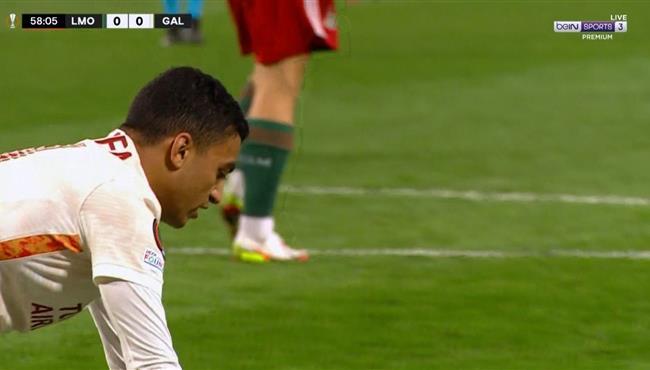 مصطفي محمد كاد ان يسجل هدف في مباراة جالطة سراي ولوكوموتيف موسكو