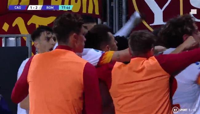 اهداف مباراة روما وكالياري (2-1) الدوري الايطالي