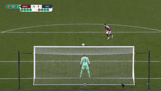 ملخص وركلات ترجيح مباراة مانشستر سيتي ووست هام في كأس الرابطة الانجليزية