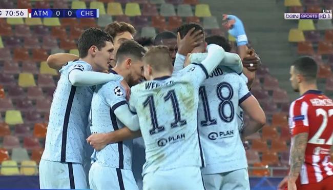 هدف فوز تشيلسي الرائع علي اتلتيكو مدريد (1-0) جيرو