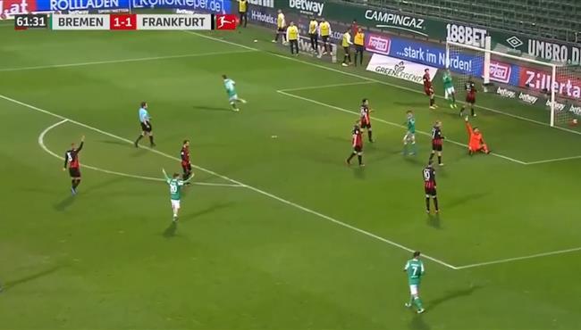اهداف مباراة فيردر بريمن وفرانكفورت (2-1) الدوري الالماني