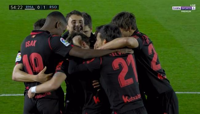 هدف ريال سوسيداد الاول فى مرمي ريال مدريد (1-0) الدوري الاسباني