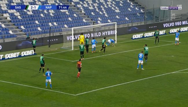 اهداف مباراة نابولي وساسولو (3-3) الدوري الايطالي