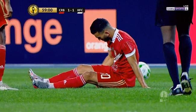 اصابة امير سعيود وخروجه في مباراة شباب بلوزداد والهلال السوداني بدوري ابطال افريقيا