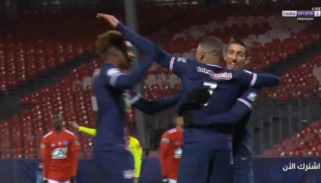 اهداف مباراة باريس سان جيرمان وبريست (3-0) كاس فرنسا