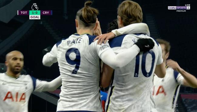 اهداف مباراة توتنهام وكريستال بالاس (4-1) الدوري الانجليزي