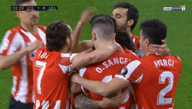 اهداف مباراة اتلتيك بلباو وغرناطة (2-1) الدوري الاسباني