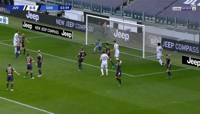 هدف يوفنتوس الاول فى مرمي جنوي (1-0) الدوري الايطالي