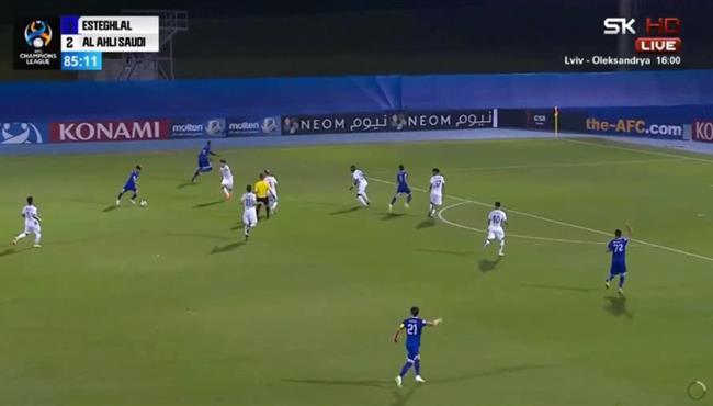 هدف رائع في مباراة الاهلي واستقلال طهران بدوري ابطال اسيا