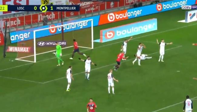 اهداف مباراة ليل ومونبليية (1-1) الدوري الفرنسي