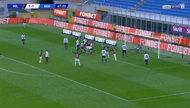 اهداف مباراة ميلان وجنوي (2-1) الدوري الايطالي