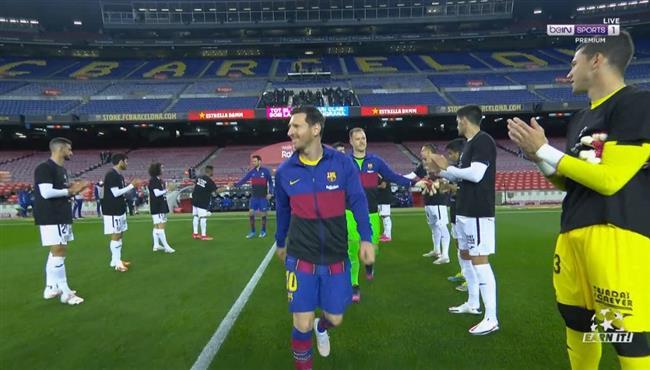 ممر شرفي من خيتافي للاعبي برشلونة بعد التتويج بكأس ملك اسبانيا
