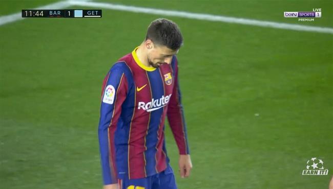هدف تعادل خيتافي مع برشلونة (1-1) لينجليت بالخطأ في مرماه