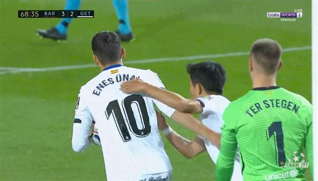هدف خيتافي الثاني في مرمي برشلونة (2-3) الدوري الاسباني