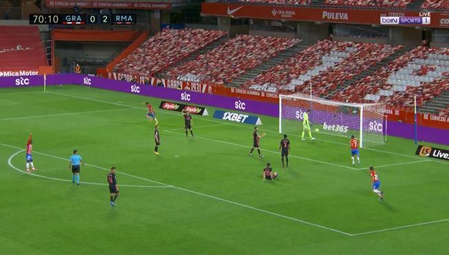 هدف غرناطة في مرمي ريال مدريد بالدوري الاسباني