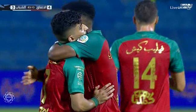 اهداف مباراة الشباب والاتفاق في الدوري السعودي .. مباشر