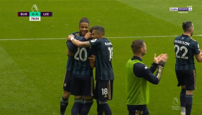 اهداف مباراة ليدز يونايتد وبيرنلي (4-0) الدوري الانجليزي