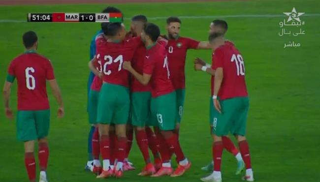 هدف فوز المغرب على بوركينا فاسو (1-0) الودية
