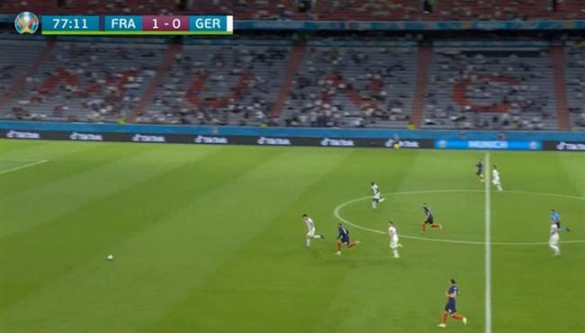 انطلاقة مبابي المذهلة في مباراة فرنسا والمانيا