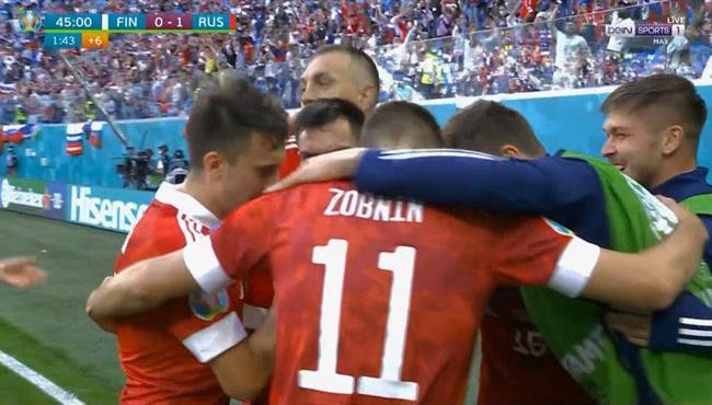 هدف فوز روسيا علي فنلندا (1-0) كاس امم اوروبا