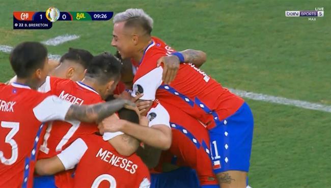هدف فوز تشيلي علي بوليفيا (1-0) كوبا امريكا