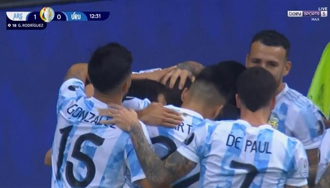 هدف فوز الارجنتين علي اوروجواي (1-0) كوبا امريكا