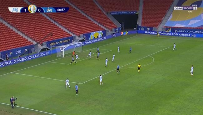 سواريز يهدر فرصة هدف امام الارجنتين بكوبا امريكا