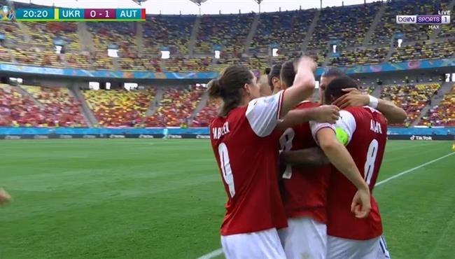هدف فوز النمسا علي اوكرانيا (1-0) كاس امم اوروبا
