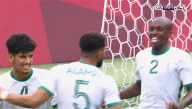 هدف تعادل السعودية مع البرازيل (1-1) اولمبياد طوكيو