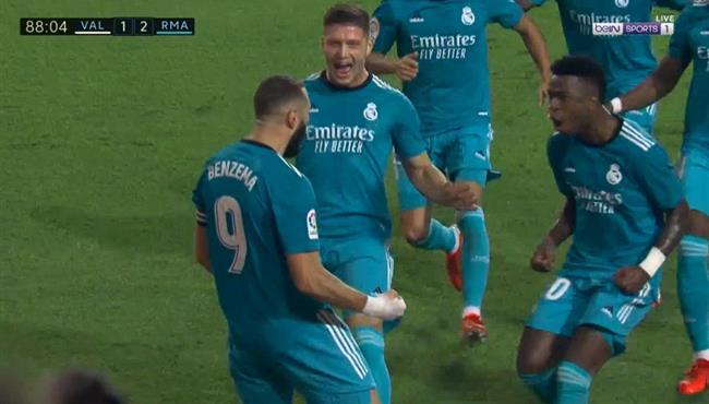 اهداف مباراة ريال مدريد وفالنسيا (2-1) الدوري الاسباني