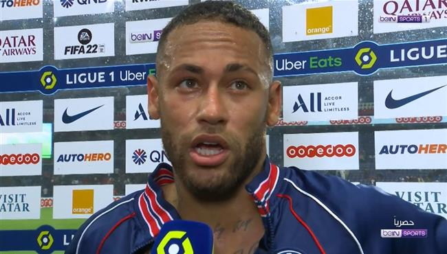 تصريحات نيمار بعد مباراة باريس سان جيرمان وليون