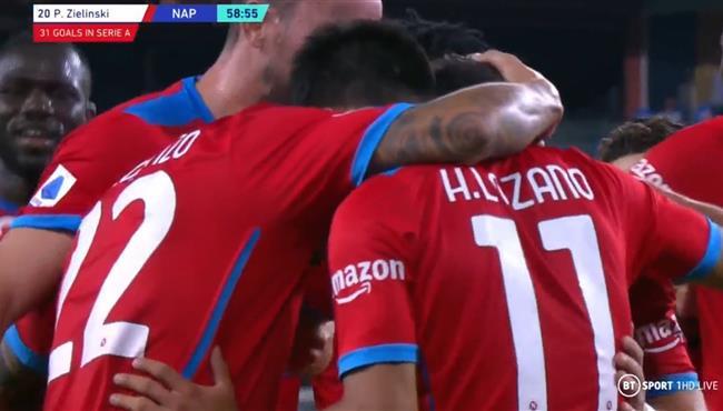 اهداف مباراة نابولي وسامبدوريا (4-0) الدوري الايطالي