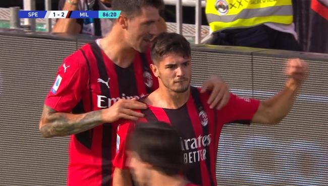 اهداف مباراة ميلان وسبيزيا (2-1) الدوري الايطالي