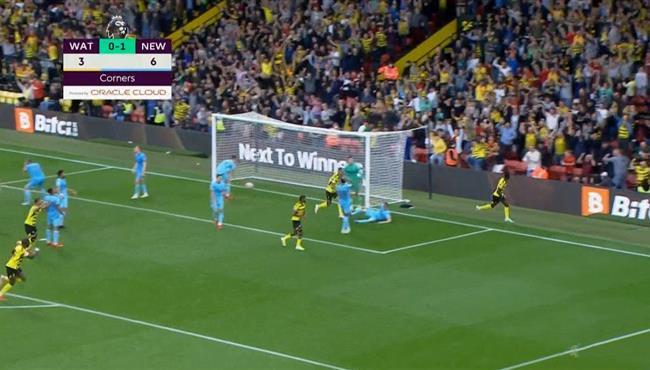 اهداف مباراة واتفورد ونيوكاسل (1-1) الدوري الانجليزي
